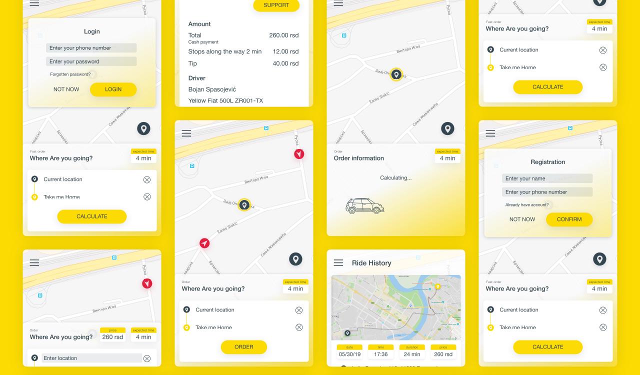 CTS Taxi user app portfolio 3
