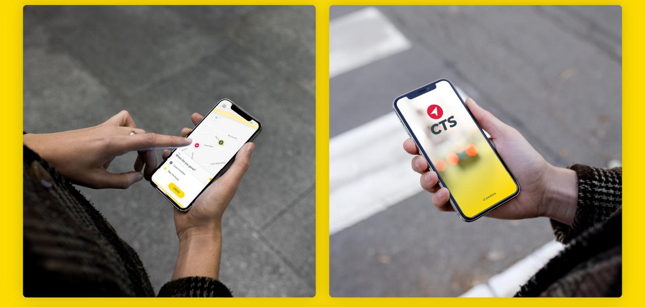 CTS Taxi user app portfolio